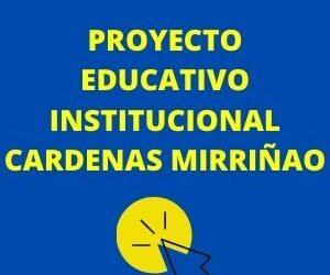 Proyecto Educativo Institucional PEI Cárdenas Mirriñao